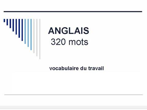 Apprendre l'anglais - 320 mots de vocabulaire du travail