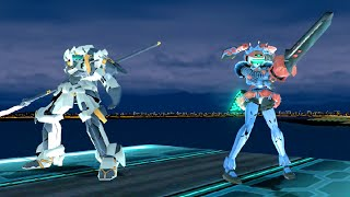 Cyber Troopers: Virtual-ON FORCE (2010) Fei Yen & Kagekiyo Playthrough (60 FPS) XBOX 360