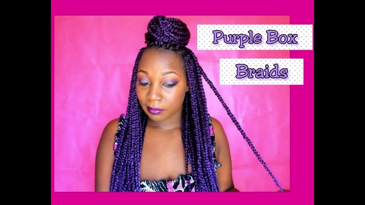 Outre Xpression Purple Box Braids With Demo Youtube