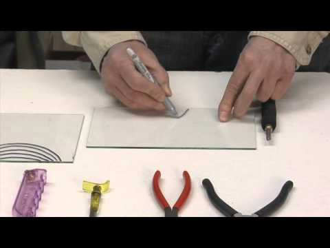 Learn To Cut Glass Into Shapes Youtube
