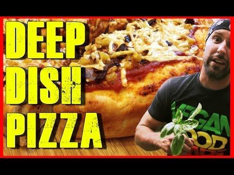 Deep Dish Pizza Recipe | Hawaiian | Vegan