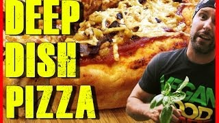 Deep Dish Pizza Recipe | Hawaiian | Vegan