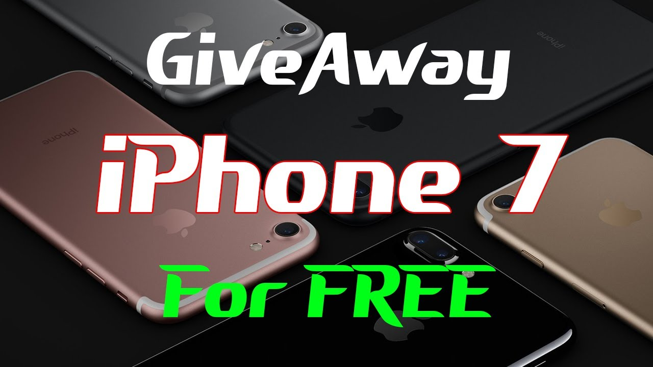 free iphone 7 giveaway live
