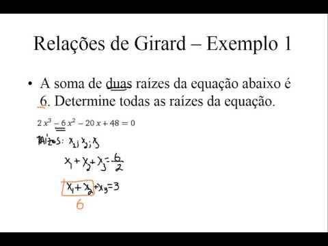 Relações de Girard - Teoria e exemplos