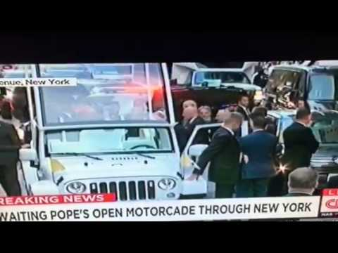 Pope Francis Goes From Fiat To Popemobile #PopeInNYC - Zennie62