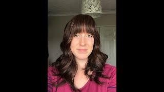 Human hair topper review: Uniwigs Melanie with fringe/bangs in 210 Truffle Brown