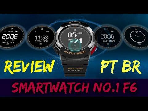 Smartwatch No.1 F6 Review Pt Br