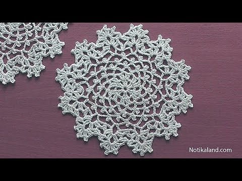 How To Crochet A Doily Part 1 Easy Crochet Doily For Beginners Step