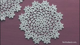 Video How to crochet a doily Part 1  Easy Crochet Doily for Beginners  Step by step Tutorial download MP3, 3GP, MP4, WEBM, AVI, FLV Juli 2018