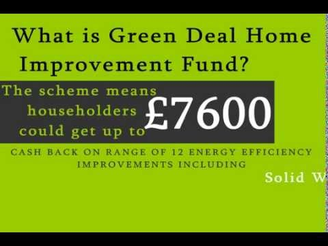 Green Deal Cash back| Green Deal Home Improvement Fund (GDHIF)