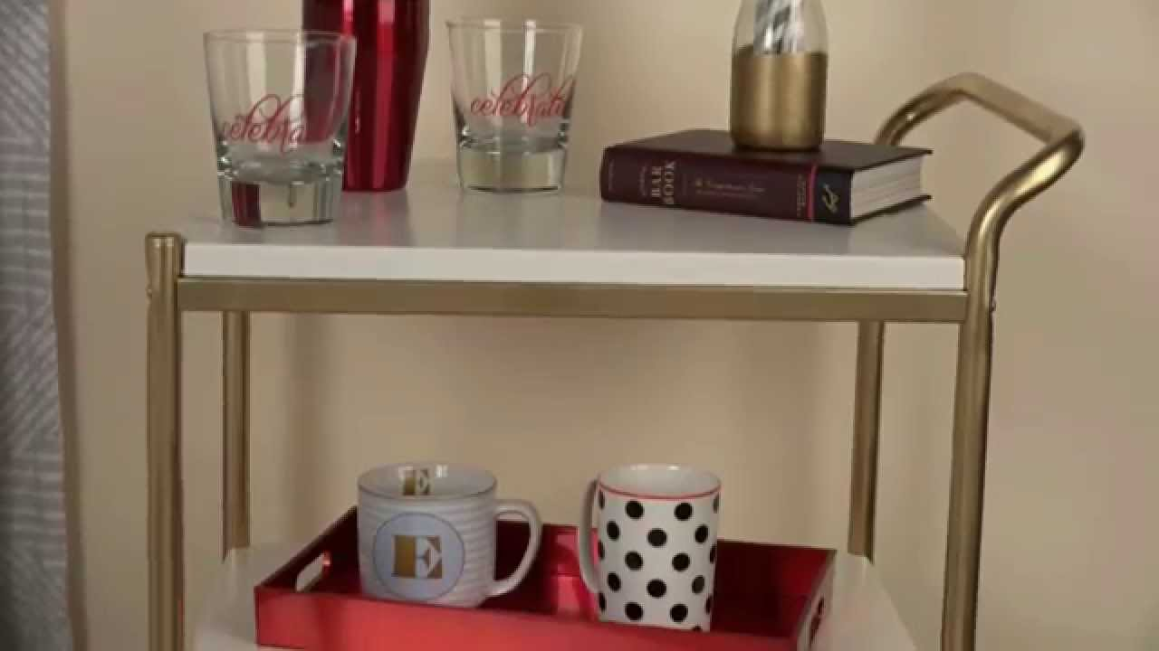 How To Video How To Paint A Metal Bar Cart Youtube