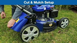 Hyundai 4-in-1 Electric Start Self-Propelled Lawn Mower HYM46SPE In Use Video