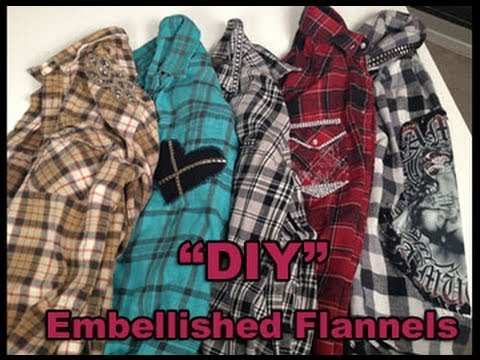 Diy Upcycle Your Old Flannel 5 Easy Ideas No Sewing Youtube