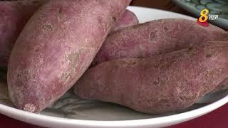 口味打破传统 首创蝶豆花日本紫薯粽