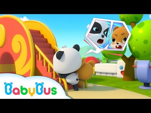 Baby Panda Quarrels with Whisker | Cool Slide | Kids Safety Tips in a Playground | BabyBus