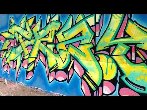 sc 1 st  YouTube & A.M. Graffiti wall/spray paint art - YouTube