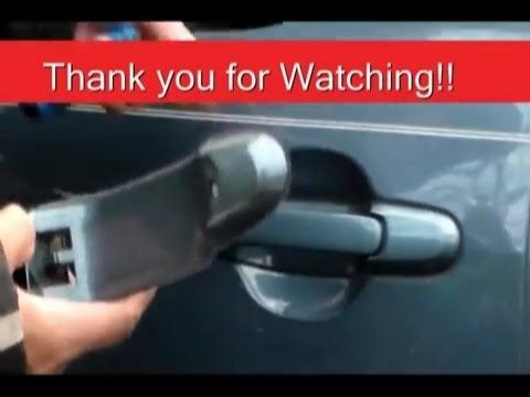 How to Install door handles on Toyota Sienna 2001 side sliding door ...