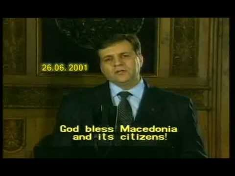 Boris Trajkovski statement to the people in Macedonia 2001