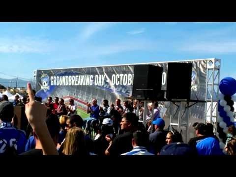 San Jose SJ Earthquakes Soccer Stadium Groundbreaking / Sun Oct 21 2012