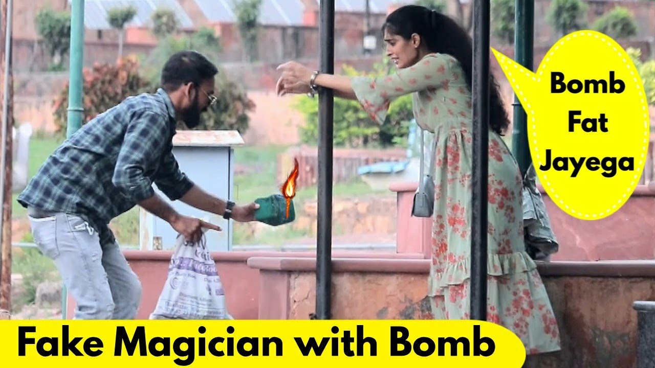 Fake Magician with Bomb Prank | Prank Rush | Pranks in India