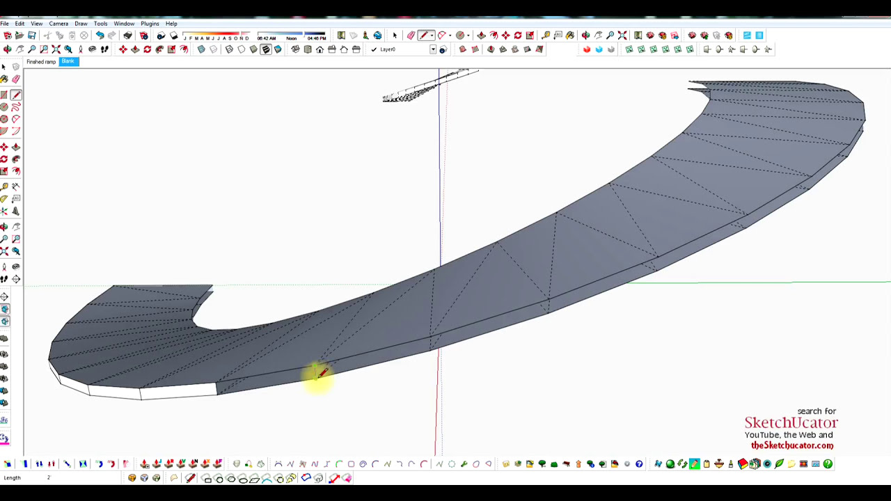 Draw A Curved Ramp In Sketchup Youtube