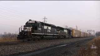 Trains on the Norfolk Southern Harrisburg Line March 2013
