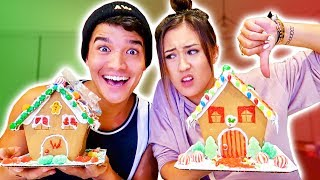 BOYFRIEND vs GIRLFRIEND Gingerbread House 2!