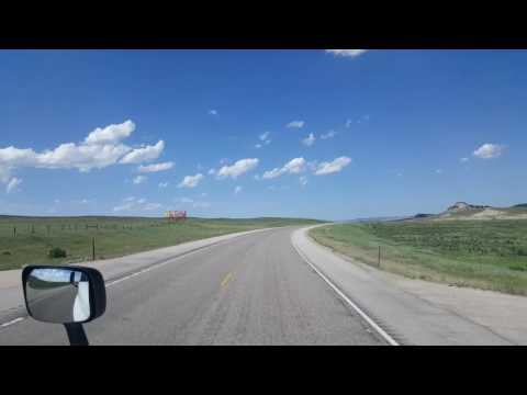 BigRigTravels - Jumping on Wyoming Route 259 and 387 headed Northeast June 10, 2016