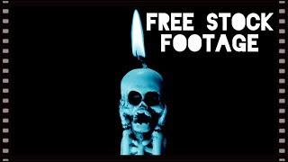 'TORTURED SKELETON CANDLES' Free Stock Footage