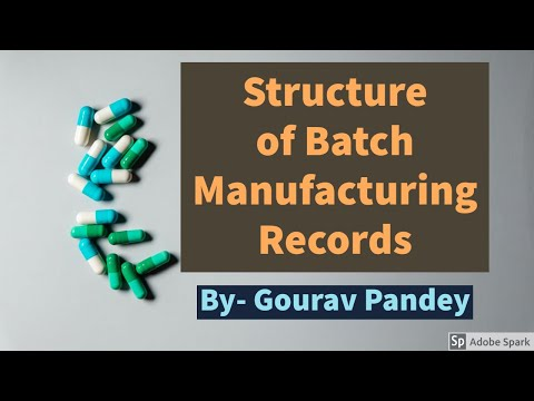 Structure of Batch Manufacturing Record