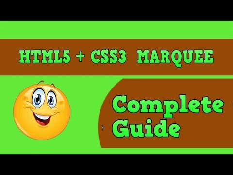 How To CreatE Marquee Using Html5 + Css3 |Step By Step Guide