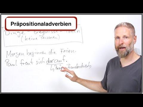 Deutsch lernen - Präpositionaladverbien / Pronominaladverbien