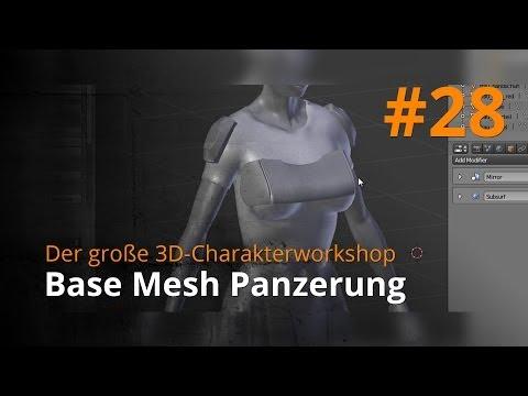Blender 3D-Charakterworkshop Teil 1 | #28 – Base Mesh Panzerung