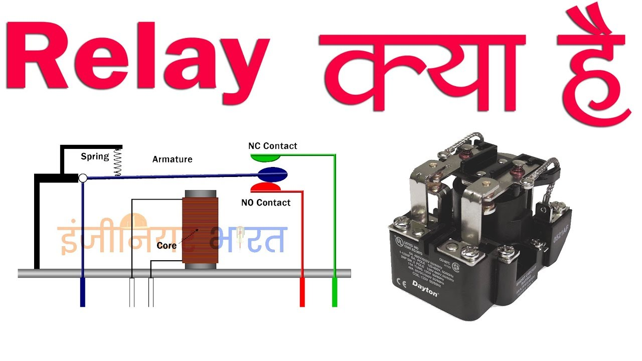 Relay Power Working Principle In Hindi Urdu