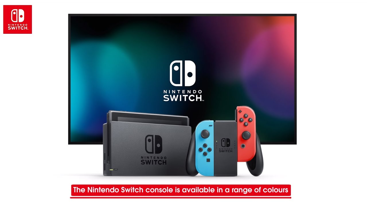 Nintendo switch with neon blue neon red joy con for Housse nintendo switch mario