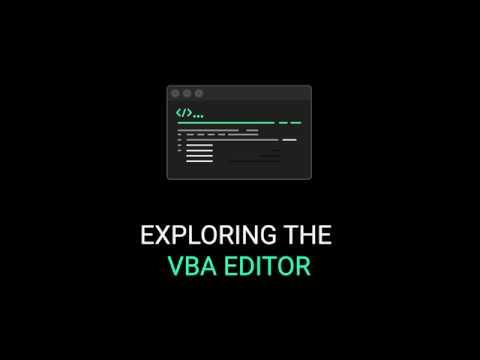 Exploring & Customizing the Excel Visual Basic Editor And Recording Macros