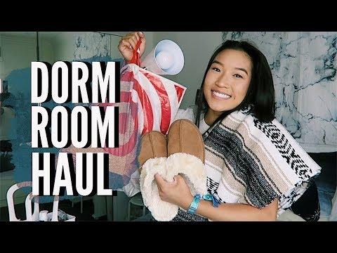 COLLEGE DORM ROOM HAUL   Room Decor + Essentials!