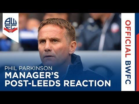 PHIL PARKINSON  Manager's postLeeds reaction