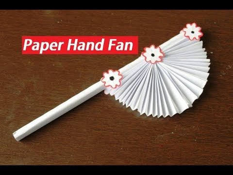 diy---paper-craft-|-how-to-make-diy-hand-fan-out-of-white-papers-|-kids-craft-idea