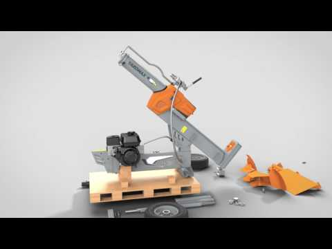 How to Assemble Your YARDMAX Half Beam Gas Log Splitter - One-Person Assembly