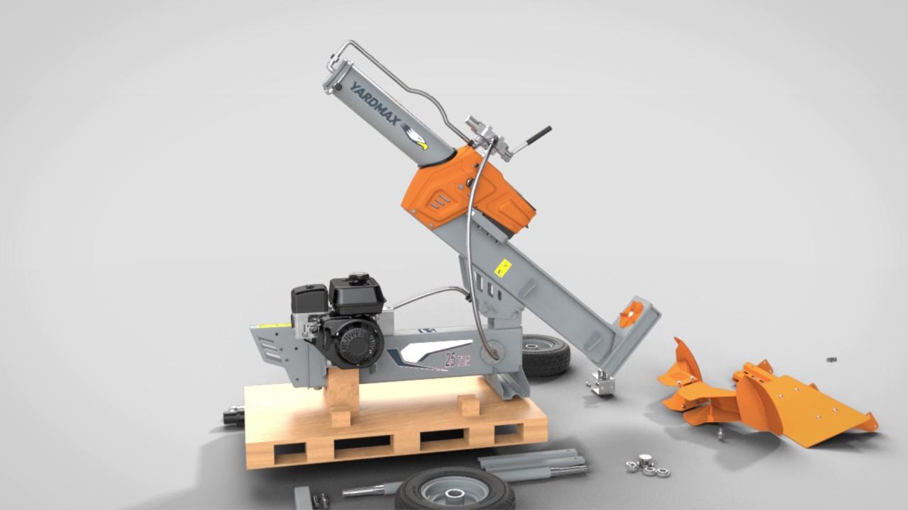 How To Assemble Your Yardmax Half Beam Gas Log Splitter