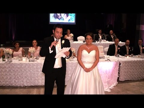 Emotional Bride/Groom Thank you speech to Parents Family and Friends