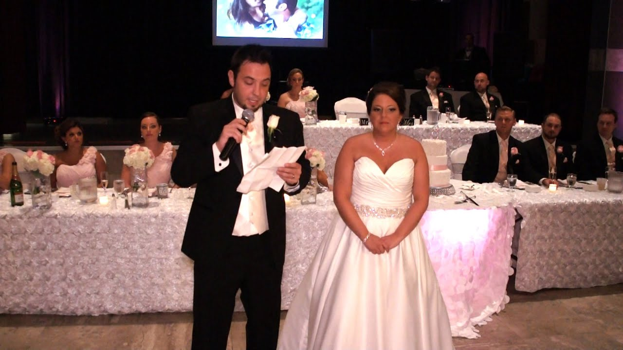 Emotional Bride Groom Thank You Speech To Parents Family And Friends