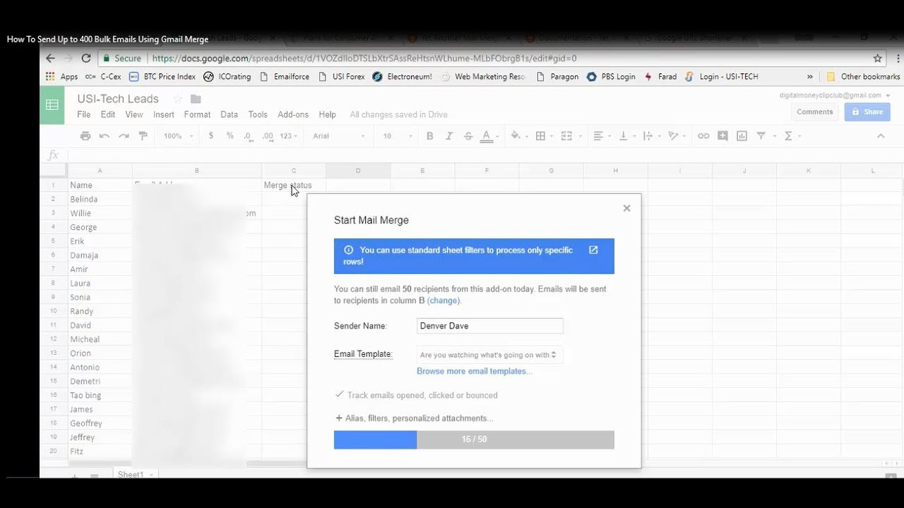 how to delete bulk gmail emails