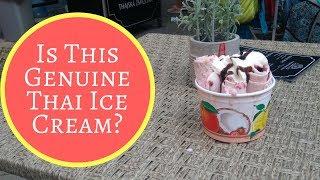 Is This Genuine Thai Ice Cream ?🍦 Raspberry & Kinder Bueno Chocolate  Rolls 🍦 Street Food