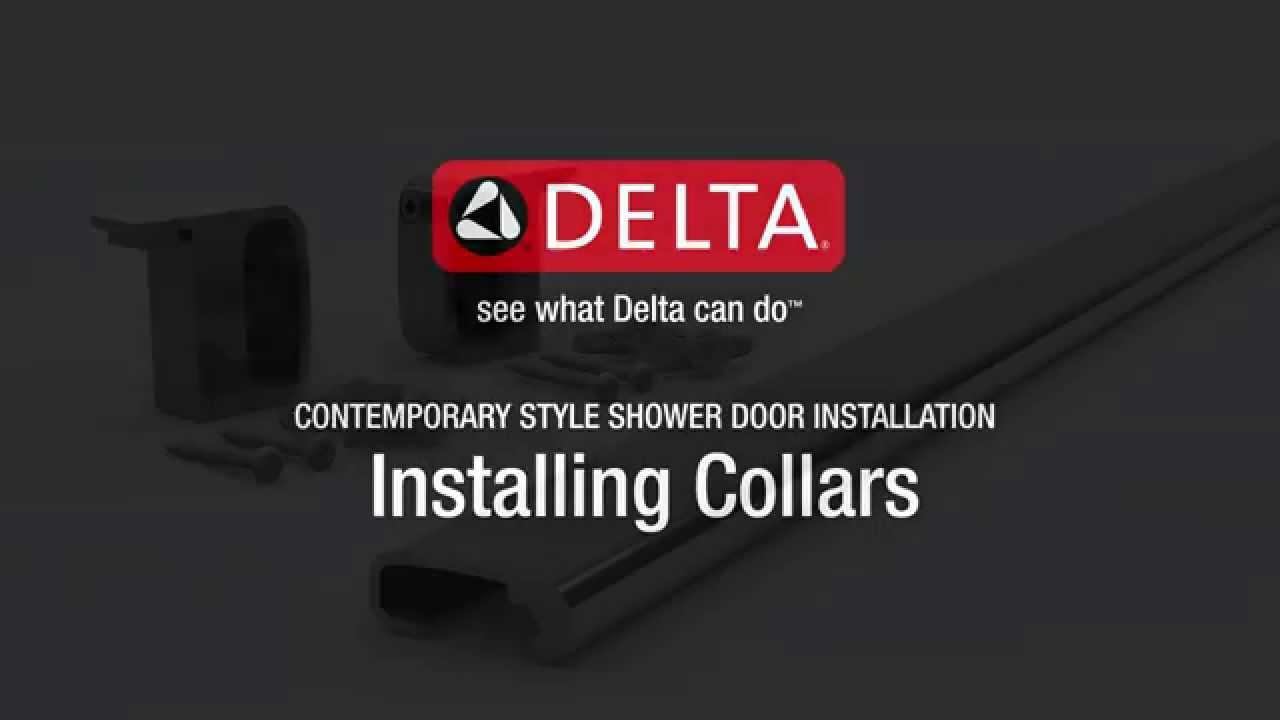 Installing the Collars for Contemporary Sliding Shower Doors HD. Delta Shower Doors  sc 1 st  YouTube & Installing the Collars for Contemporary Sliding Shower Doors HD ...