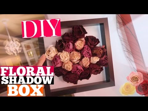 DIY Floral Shadow Box! How to Preserve Dried Flowers in 2 Different Styles & DIY Floral Shadow Box! How to Preserve Dried Flowers in 2 ... Aboutintivar.Com