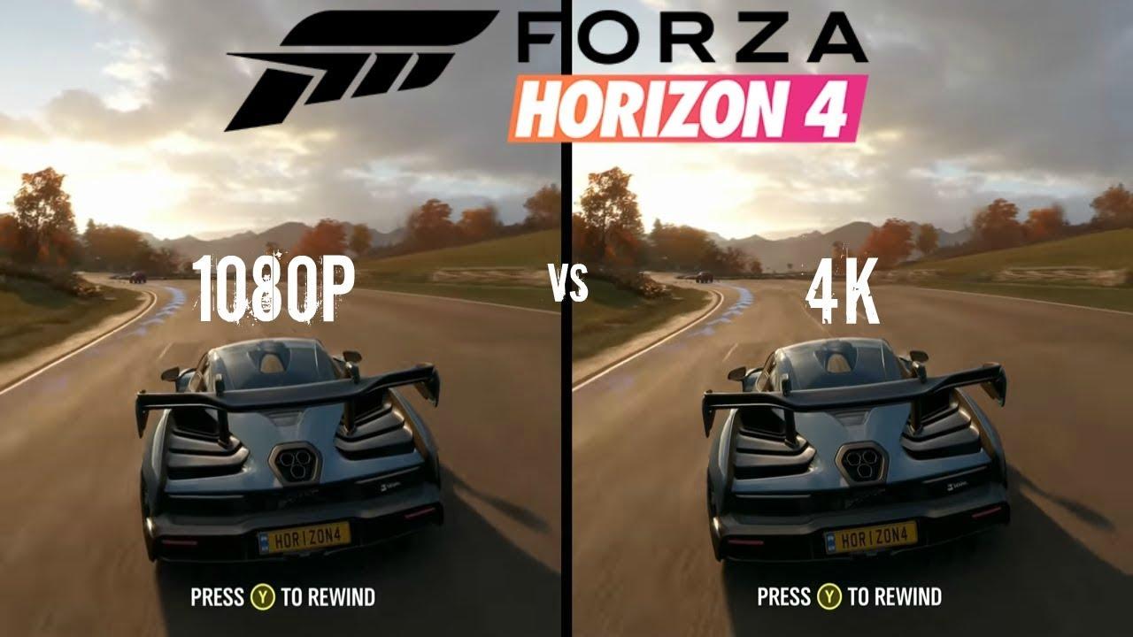 Forza Horizon 4 1080p Vs 4k Youtube