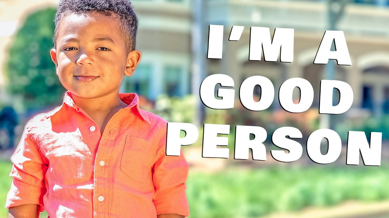 Smart Toddler Knows He's A Good Person | Interview With A 3-Year Old