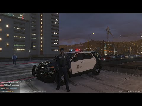 GTA 5 LSPDFR Police Mod Day 33 | City Patrol In The LAPD Crown Victoria | Routine Traffic Stops